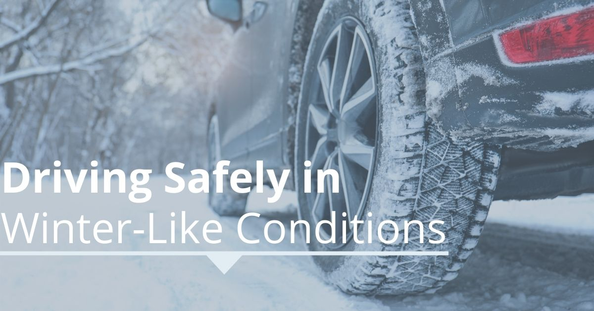blog image of car driving in winter weather